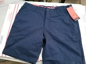 UNDER ARMOUR MEN'S PERFORMANCE CHINO GOLF SHORTS  NAVY BLUE VARIETY SIZE 34 NWT