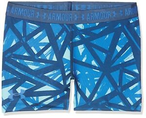 (YouthSmall Venetian Blue) - Under Armour Girls' Printed Armoury Shorts