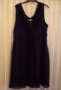 NWT ORG $194 BODEN COCKTAIL PARTY DARK NAVY SILK CHIFFON DRESS BR008 -SIZE US 18