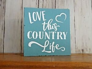 Love This Country Life Mini Country Cowgirl Wood Shelf Sitter 5.5quot;