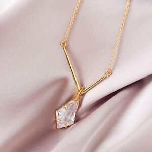 ALEXIS BITTAR Gorgeous Diamond Crystal Pendant Gold Plated Chain Necklace