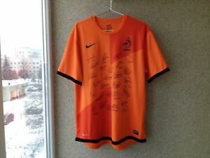 Netherlands Special edition Signed 20122014 Home football shirt Nike Jersey