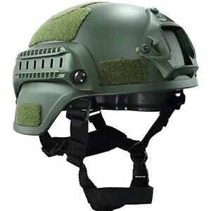 OneTigris MICH 2000 ACH Tactical Helmet with NVG Mount and Side Rail OD Green