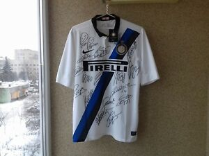 Internazionale Milan BNWT Italy Signed 20112012 Away football shirt Nike Jersey