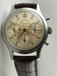 Abercrombie & Fitch Huer Shipmate Chronograph  $100K Val WCert!! Circa1940's!!!