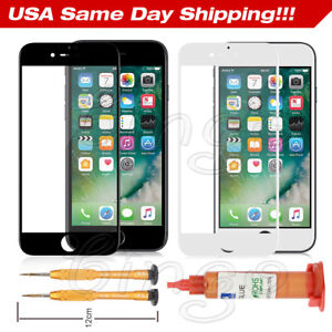 For iPhone 7 Plus Front Outer Touch Screen Glass Lens Replacement UV Glue Kit