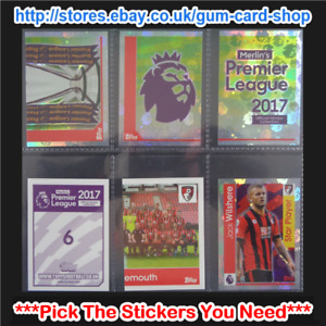Merlin's Premier League 2017 (1 to 99) *Select the Stickers You Need*