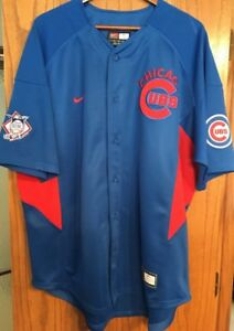 NIKE Team Chicago Cubs MLB Jersey Shirt Button Down Men's XL ~~ NWOT