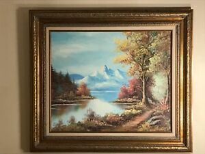 Vintage original signed oil painting William Ernest Chapman Powderhorn Colorado