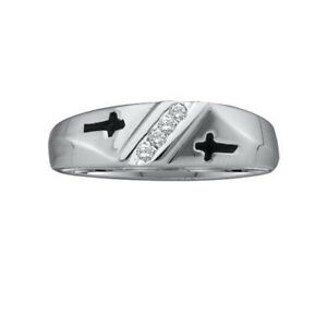 10K White Gold 0.05ctw Simple Channel Set Round Diamond Mens Metal Mold Ring