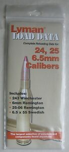 Lyman Load Data for 24 25 6.5mm Calibers (PB) 2011