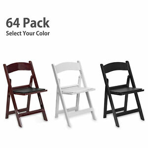 Folding Resin Chair Event Party Wedding Commercial Indoor Outdoor Rental 64 Pack