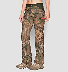 Under Armour Camo Early Season Speed Freak Women's Pants Scent Control Sz 4 NWT
