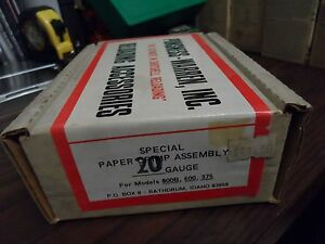 NOS Ponsness-Warren Special Paper Crimp Assembly 20GA