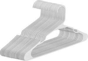 White Plastic Hangers Durable Slim Stylish New in Pack of 30 & 150 Utopia Home