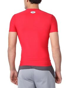 (Small Red) - Under Armour HeatGear Compression Short Sleeve T-Shirt