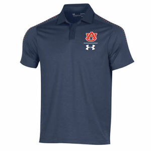 Under Armour Auburn Tigers Navy 2018 Coaches Sideline Performance Polo