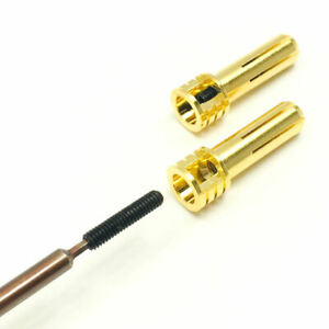 Trinity Lipo Battery Adjustable 5mm Copper Bullet Connectors (2) Males REV2204