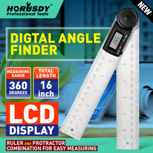 8quot; Electronic Digital Protractor Goniometer Angle Finder Miter Gauge 2 batteries $14.99