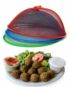 Food Cover Mesh Cover For Plate Or Plants 3 Pack, Colors Red, Blue, Green 10.75