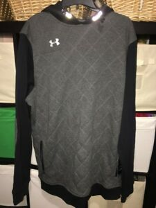 Under Armour  Storm  Men's XL Tall Hoodie Black Gray Pullover Sweater New