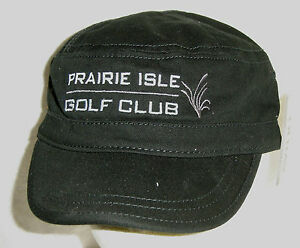 Prairie Isle Hat Cap Golf Club Chrystal Lake IL Flattop Style USA Embroidery New