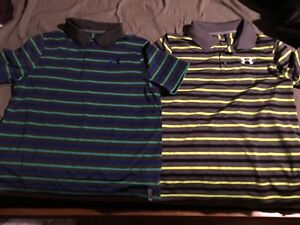 boys under armour Polo Golf Shirts Youth Xl Loose Fit