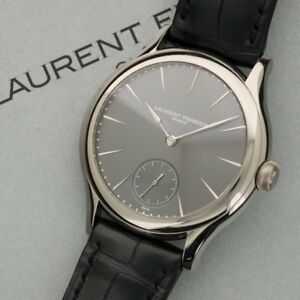 Laurent Ferrier Galet Micro-Rotor 40mm À Echappement Naturel in 18kt White Gold