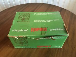 Rapala Countdown Red  CD-9. Factory Box of 10 Vintage.  Lures are new and Sealed