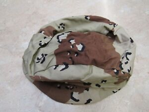 USGI DESERT STORM 6 COLOR CAMO HELMET COVER PASGT  MED/LG CHOCOLATE CHIP