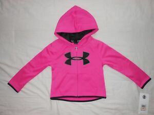 NWT Under Armour Toddler Girls pink hoodie Size 2T