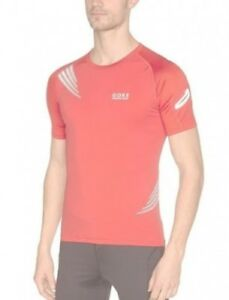 (Small Red) - Gore Running Wear Magnitude 2.0 Men's Shirt. Free Delivery