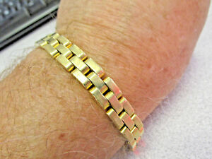 Estate 18k Gold Heavy Duty Link Bracelet for Man or Woman 8 inch   Make Offer