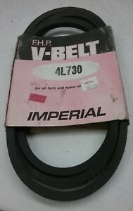 IMPERIAL FARM AND HOME APPLIANCE V BELT 4L730