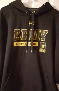 mens under armour hoodie army strong size xl loose