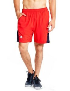 (Small Red) - Baleaf Men's 18cm Quick Dry Workout Running Shorts Mesh Liner