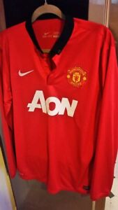 Authentic MANCHESTER UNITED Dry Fit SHIRT AON NIKE LONG SLEEVE Size L
