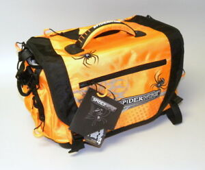 New Spiderwire Fishing Tackle Bag in Orange with 4 Large Utility Boxes NWT