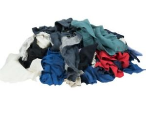 Colored Recycled T-Shirt Rags 12- 25lb Compressed Bags - 300lbs