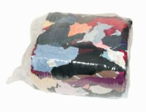 Colored Recycled T-Shirt Rags 6- 25lb Compressed Bags - 150lbs