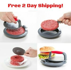 3 pcs Burger Patty Press Maker Hamburger Meat Mold Grill BBQ Non Stick Kitchen