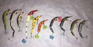 Lot Of 10 Vintage Assorted Jointed BENO Fishing Lures Bait Sporting Goods