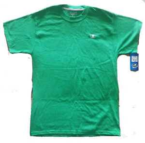 CHAMPION Mens Authentic Kelly Green Dry Fit Athletic T-SHIRT NEW MEDIUM