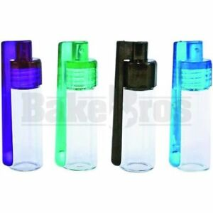 Energy Snuff Snorter Acrylic And Glass Scoop Bullet Tall