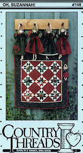 Country Threads Quilting Sewing Wall Hanging Pattern #148 quot;Oh Suzannah quot; Dolls $7.00