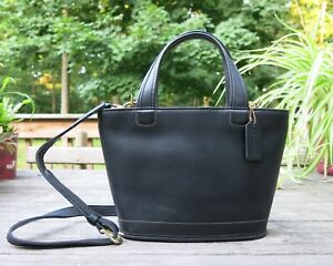 NEW Coach Bleecker black leather hand bag with cross body strap