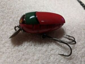 Millsite Rattle Bug Lure Early Model Red and Green Bug color Screw eye Hardware