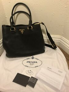 Authentic Prada Small Leather Bag - wreceipt + Card