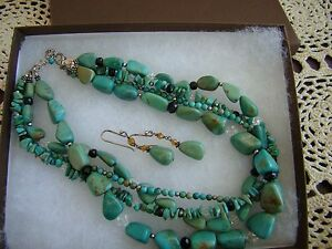 Silpada SET Turquoise Necklace N1299 & Earring W1290 Set Retired! $238