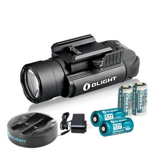 Olight PL 2 Valkyrie 1200 Lumen Pistol Light w 2xRCR123 Batteries and Charger $128.90